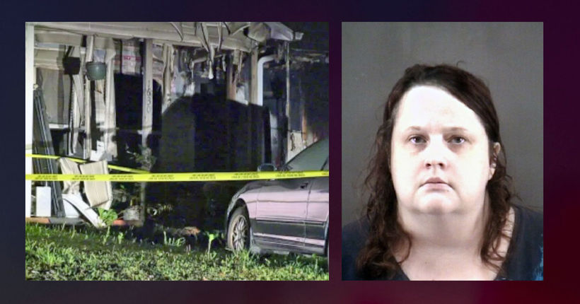 N.C. woman accused of setting home on fire with mother inside; 4 pets killed