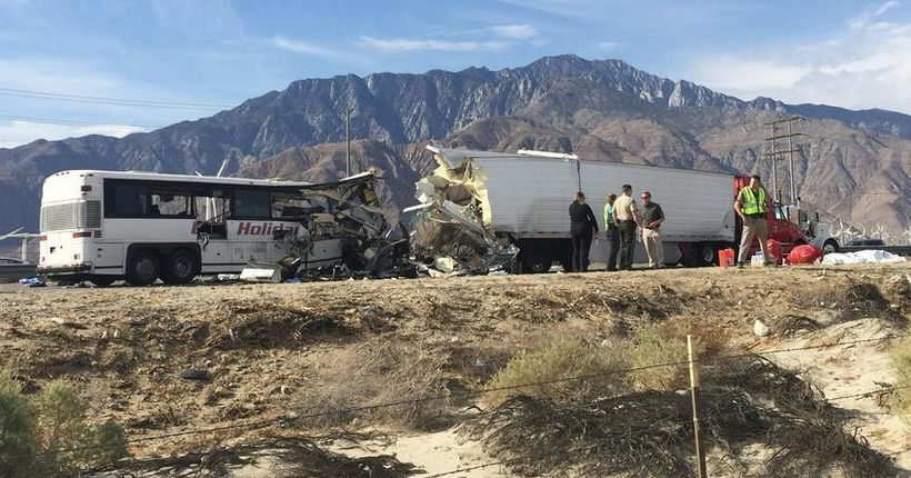 Trucker sentenced to 4 years in prison for 2016 Palm Springs-area crash that killed 13 people