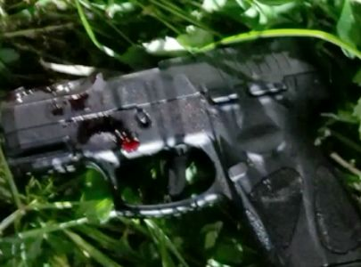 Homemade explosive device found near shootout with masked gunman