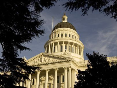 California Senate evacuated after anti-vax protester allegedly throws blood