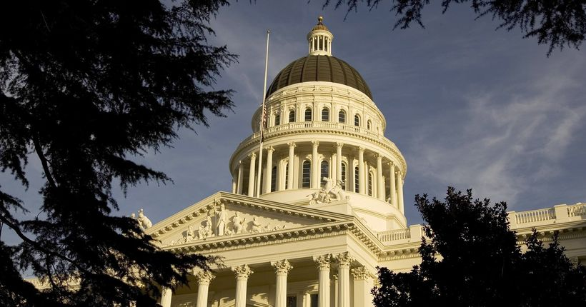 California Senate evacuated after vaccine bill protester throws 'what appeared to be blood' onto lawmakers
