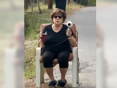 Woman uses hair dryer to stop speeders