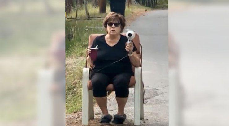 Woman uses hair dryer to stop speeders