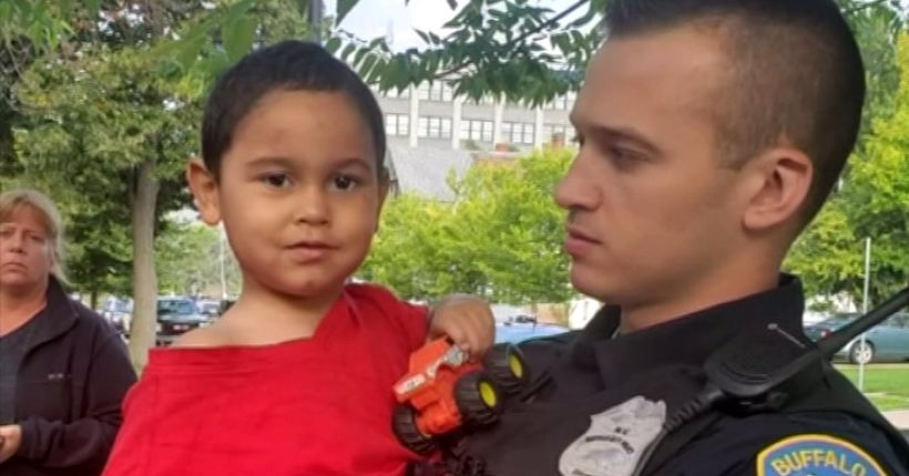 3-year-old boy found sleeping on stranger's porch one mile from burned car containing human remains
