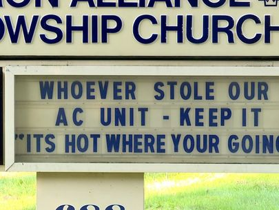 Church to air conditioning thieves: 'It's hot where you're going'