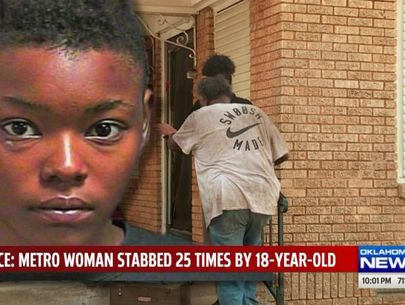 Woman stabbed 25 times by teen in broad daylight