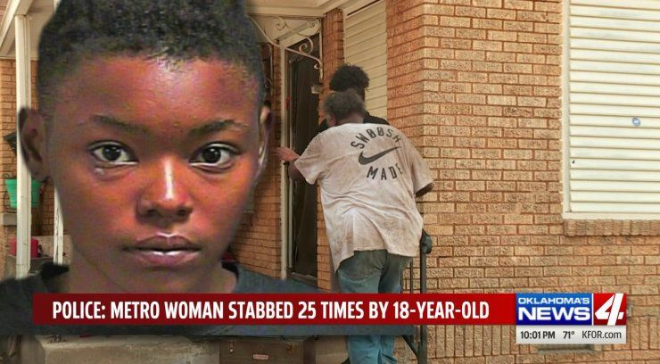 OKC woman stabbed 25 times by teen in broad daylight