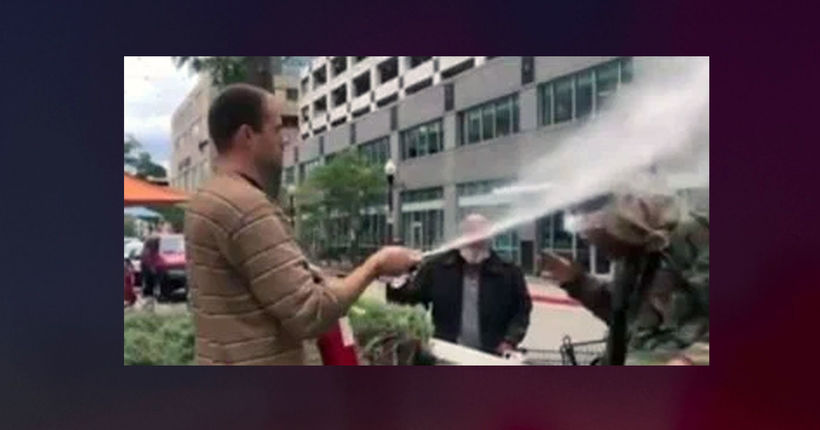 Salt Lake City restaurateur shoots fire extinguisher in face of man smoking in public