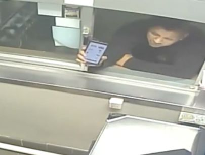 Man smashes drive-thru window when told he can't pick up food on bike