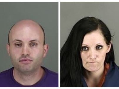 2 arrested after partially naked man found dead in yard