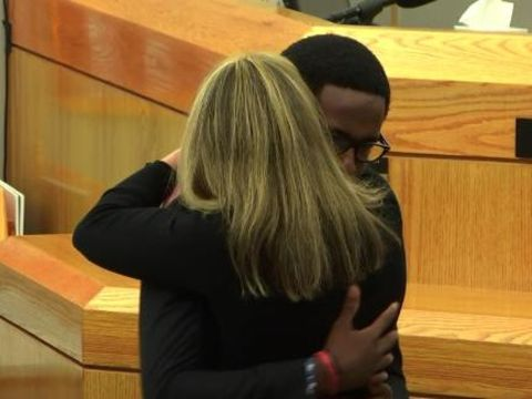 Brother of Botham Jean forgives, hugs Amber Guyger