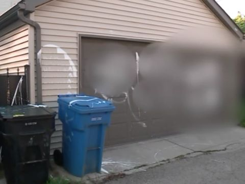 Swastika painted on Chicago family's garage