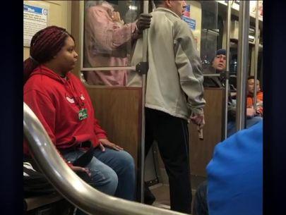 Good samaritan disarms man 'walking around robbing people' on train