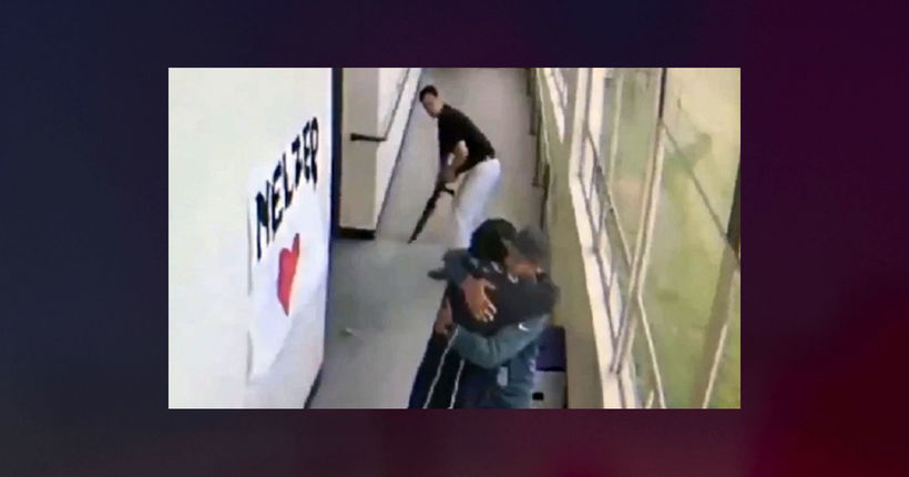Video shows coach disarming student, embracing him before cops arrive