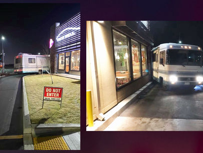 Woman arrested for DUI after RV gets stuck in Taco Bell drive-thru