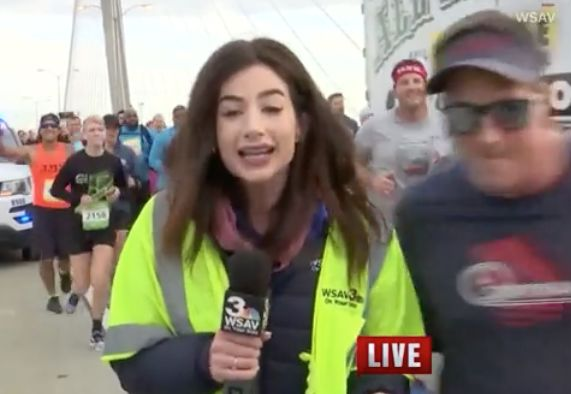 Runner who smacked reporter's backside on air arrested, charged