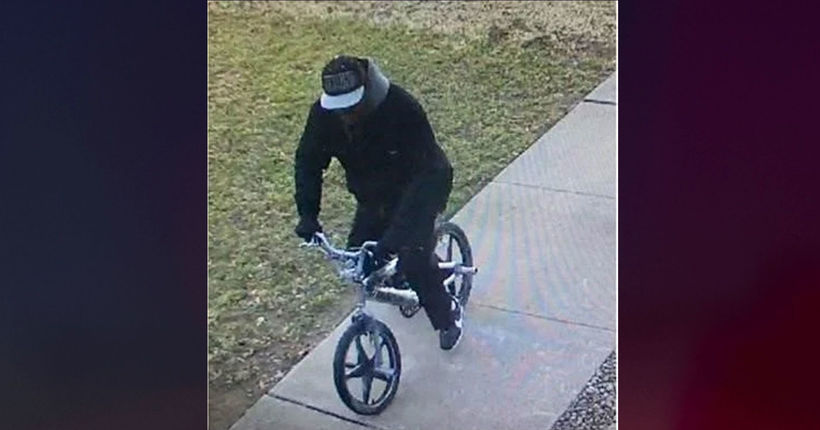 Wanted: Large bank robbery suspect escapes on bicycle