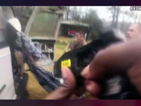 Rescue of kidnapping victim caught on bodycam video