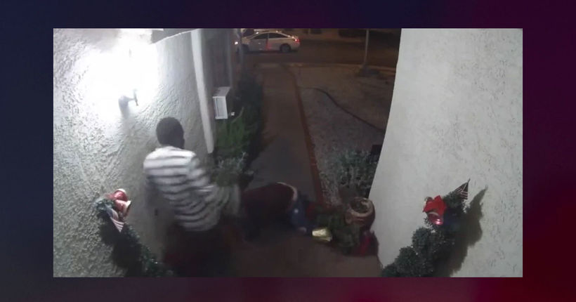Woman's kidnapping captured on home surveillance camera in Las Vegas