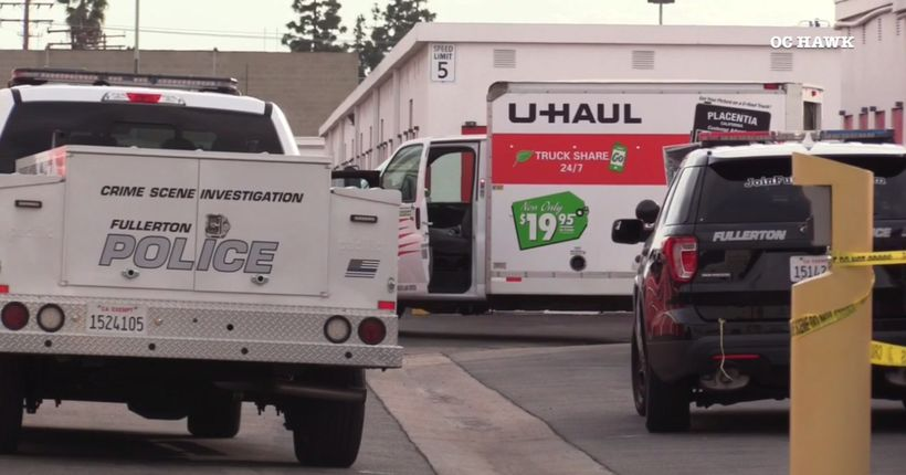 Suspicious death investigation underway after human remains found in back of U-Haul