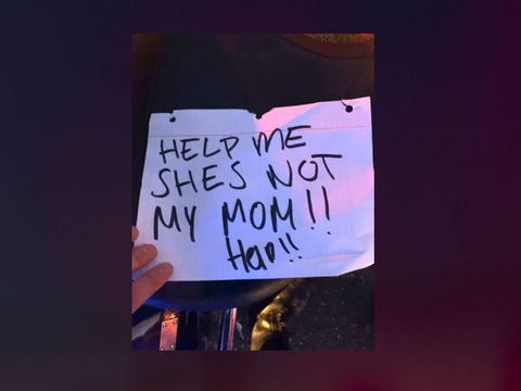 Girl signaling for help from car's back seat was hoax: CHP