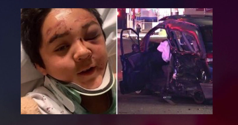 12-year-old stable after being thrown out of car in hit-and-run crash
