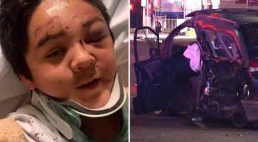 12-year-old thrown out of car in hit-and-run crash