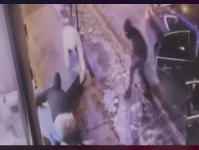Video: 4 masked burglars steal ATM from liquor store