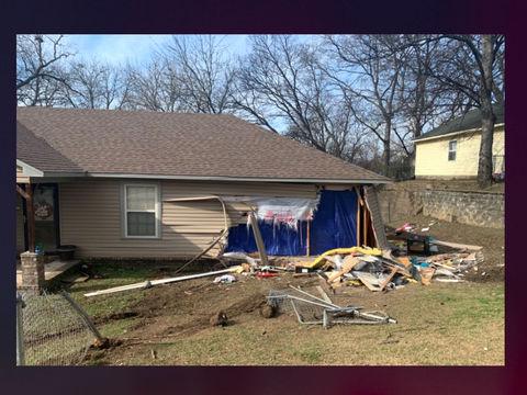 Woman drives truck through Arkansas home, injuring kid, killing pets