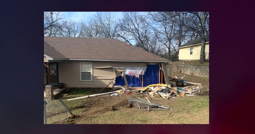 Woman drives truck through Arkansas home, injuring child, killing pets