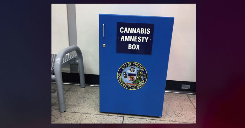Unknown object stolen from 'cannabis amnesty' box in Chicago airport