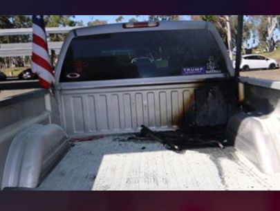 Man arrested after admitting to burning student's U.S. flags