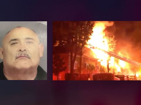 Arson suspect arrested in blaze that killed dog, displaced dozens