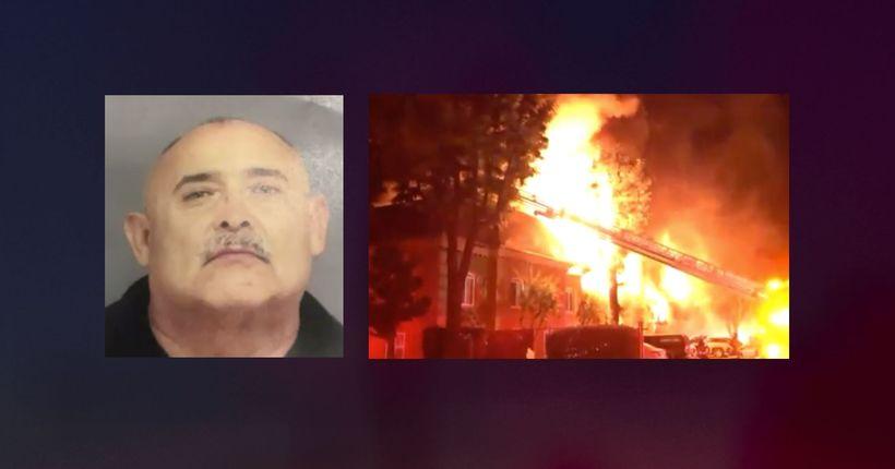 Arson suspect arrested in Tustin apartment blaze that killed dog, displaced dozens