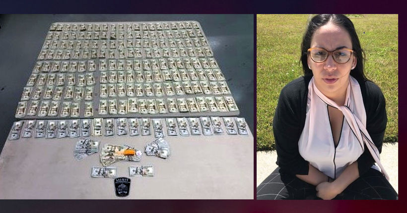 Woman arrested after bailing out suspect with pot-reeking cash