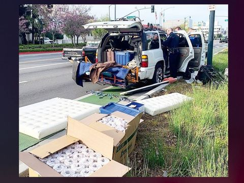 Police find 192 rolls of toilet paper stashed in stolen SUV