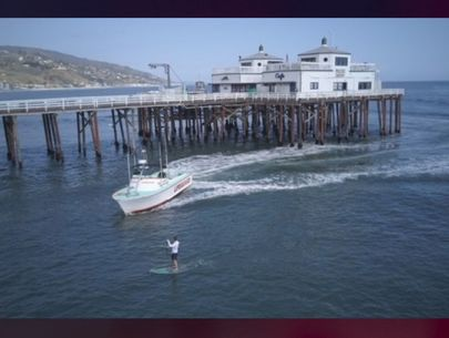 Paddleboarder arrested at Malibu Pier for violating stay-at-home order