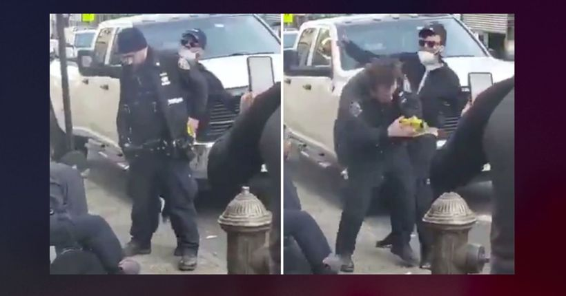 Man sucker punches cop in head during unrelated arrest
