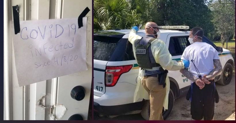 Florida man used 'COVID-19' sign to try to dodge arrest, sheriff says