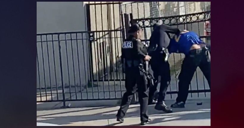 Video shows LAPD officer striking man repeatedly in Boyle Heights, prompting investigation