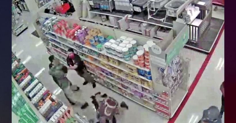 Target security guard's arm broken in attack by men escorted out for not having masks, LAPD says