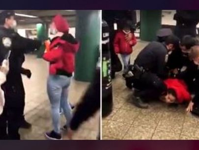 Video: Controversial arrest of mom in subway station over face mask