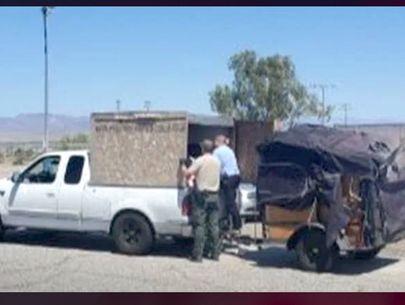 Deputies find 5 kids in towed crate on interstate in 100-degree weather