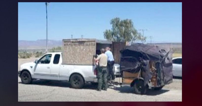 Deputies find 5 kids in towed crate on interstate in 100-degree weather