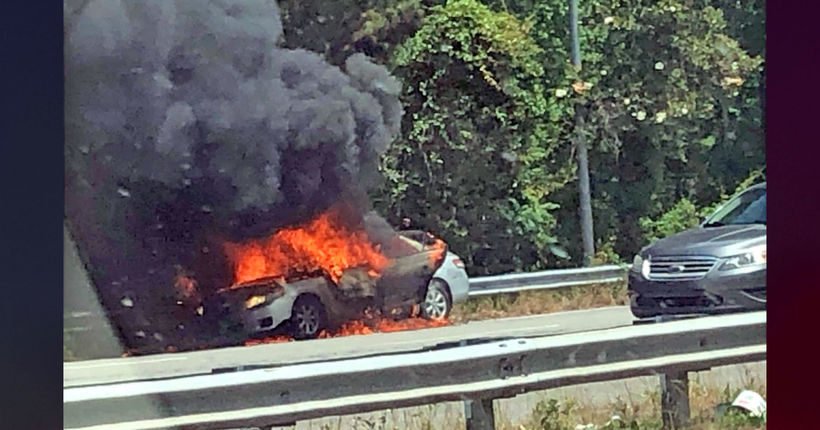 South Carolina mom accused of setting car on fire with toddler inside