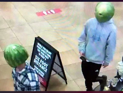 Gas station theft suspects wore melon rinds as masks; 1 arrested