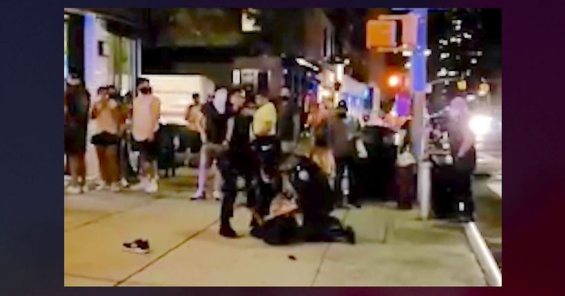 NYPD officers slam man onto ground on UES as restaurants, bars draw crowds
