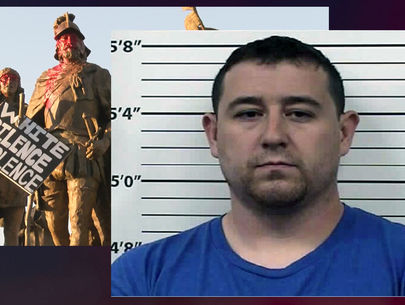 Suspect arrested in Albuquerque statue-protest shooting