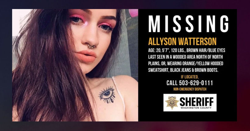 Investigators believe remains of missing Oregon woman Allyson Watterson found