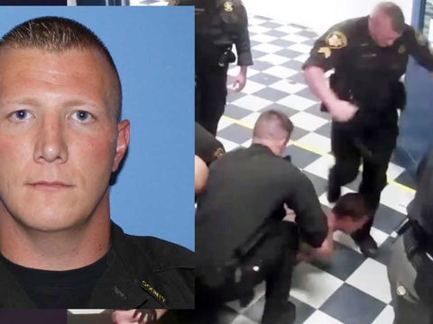 Deputy seen on video kicking inmate in head charged with assault